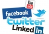 provide you Automation for UNLIMITED Facebook Likes, Twitter Followers, Youtube Subscribers, web traffic and many more to your account..@