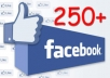 give you 250+ facebook likes for your facebook fan page or post,photo,video