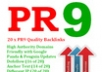 create you 20 PR9 backlinks from 20 different PR 9 high authority sites [ dofollow, Panda and Penguin compatible ] + pinging..!!!!!