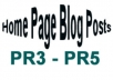 create For You PR3 to PR5 Home Page Blog Posts!!!