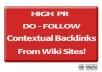 create 105+ DOFOLLOW Contextual Backlinks from 35+ Wiki sites!!!
