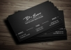 be your personal graphic designer to create an Elegant, Sophisticated and Professional business cards!!!