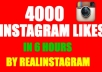 give you 6000 INSTAGRAM likes in 6 hours to your instagram account on Instagram!!!