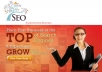 provide you a Complete SEO Solution Pack (Now you can easily rank your website at top 5) Less work more output (all in one)