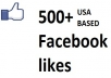 Get you 500+ ♥REAL + MANUAL♥ USA BASED FACEBOOK likes just