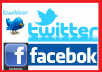 GIVE YOU 1500 + FACEBOOK LIKE Fans and 24200 + Twitter Followers
