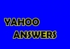 give 6 good quality yahoo answer+link from my level 2 and 2 accounts with minimum of 2 best answer