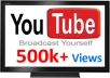 give you guaranteed 500,000++(500k) youtube views