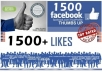 get you 1500+ Facebook likes on your facebook page and I will tweet your website to my 300k+ twitter followers just