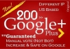 get you 201+ google +1 PLUS one votes to your website with mostly usa accounts
