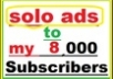 do SOLo Ads and Email Ads to Over 204 000 USA RESPONSiVE SafeList Members in lM Niche..!!!!!