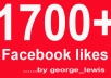get you 1700+ Facebook likes with USA names and profile pictures within 72 hours To your fanpage.....