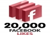 to add 20,000 facebook likes to your fanpage, quick and safe, maximum 48 hours delivery time