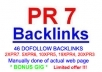 do 46 Highpr Including 2xPR7 Backlinks Manually 2PR7 + 5Pr6 + 10Pr5 + 10Pr4 + 19Pr3 Blog Comment Dofollow on Actual Page