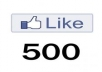I will add Manual 500 facebook likes to your fanpage, quick delivery 24 hours maximum.