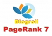 put your link on my PR7 Blogroll Links Pagerank 7
