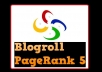 placed your links on my PR 5 Blogroll Link Permanent