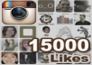 give You 15,000++ Instagram Likes And You Can Spread Them Over Max 5 Photos, Very Fast Delivery