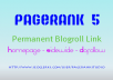 give you blogroll backlink permanent on my pagerank 5 dofollow seo site just