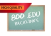 manually get you 800 EDU seo links for your website through blog comments