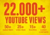 give you 22000+ youtube views, Buy 2 gigs and get 1 gig for FREE, 40 Custom Comments, 25+ likes, 50+ subscribers, 15+ favorites