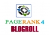 add your link to blogroll PR 4 sites Backlinks Pageranks 4