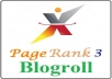 add your link to blogroll PR3 sites Backlinks Pageranks 3