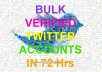 Create 100 Unique IP Twitter Accounts with Complete Profile, Bio, Custom Background, Email Verified in 48 Hours