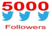 give you 5000+ Stable Twitter Followers to your account within 72 hours....!!!!!!!
