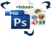 convert any psd to html, max 5 pages + CMS built inside for easy costumization on client side