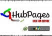 Create a High Quality Hubpage With 500 Words Unique Keyword Optimized Article having your Website Link