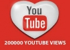 give u 200,000+ youtube views with 100likes to your video