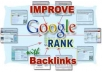 Creat 1260+ High PR Quality backlinks on authority blogs with GOV and EDU links boosting your Google RANK Through the ROOF