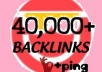 will make 40,000 blog comment backlinks