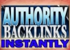 make 2500 High PR Authority Backlinks to your Site