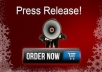 make a professional press release article and submit manually to 30 HQ press release sites