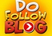 create 40 real dofollow backlinks on HQ blog PR3 to PR5 