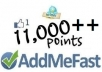 create a new addmefast account or refill your addmefast account with11000++ points