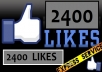 give 2400+ USA Facebook Likes from Best Quality Profiled Users to your Fan Page in less than 2 hours without admin access