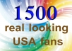 SPECIALLY add 1500+ Real Looking Facebook likes to make your fan page look supercool by so many Facebook fans