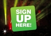 promote your link with 35 signups by real human diffenrent countries and ip