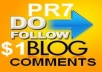 manually create 2xPR7 1xPR6 DoFollow Backlinks PR from Actual Page