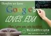 ma ke over 1000 VERIFIED live edu links to boost your site seo authority and serp positions | Bulk urls / k eys ok