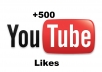 give you 500 real likes to your YouTube video without passwords
