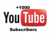 give you 1000 real subscribers to your YouTube channel without passwords