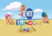 provide you 200 Real Organic facebook vote or like by real people to any contest...!!!!!!!!