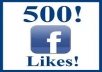 give you 500++real and safe facebook likes in SUPER FAST TIMELINE 100% manual without admin access only