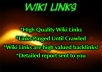 create high PR 50 wiki article backlinks