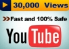 give You 30000+ Very Urgent YOUTUBE Views In Less 24 to 48 hours...!!!!!