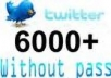 add 6000+ Twitter followers to your page, have good picture and profile, no need admin access less than 20 hours